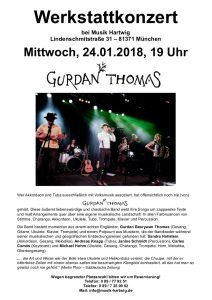 Intimate gig at Musik Hartwig in January